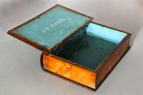 19th Century Treen Book Box
