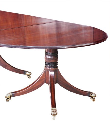 George III four pedestal dining table