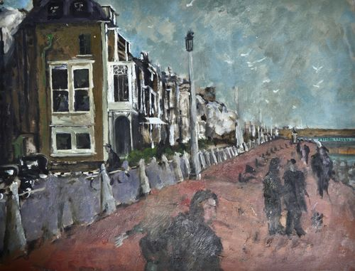 Carolyn Sergeant - The Seafront, Dover - oil on paper