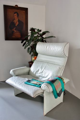 Saporiti Italia Armchair and Foot Rest