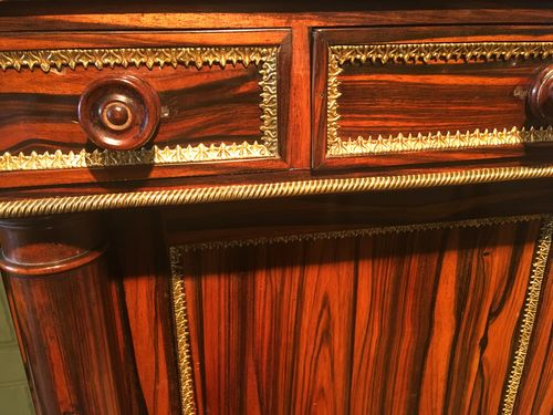 Regency Coromandel and Brass  embellished Cabinet