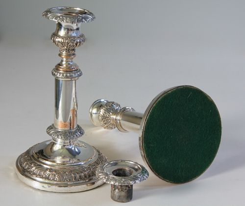 Pair of Victorian Silver Plate Candlesticks.