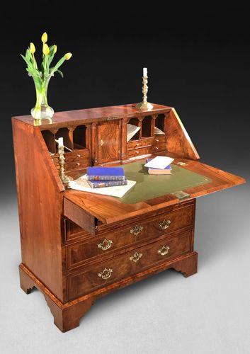 18th Century Figured Walnut Bureau