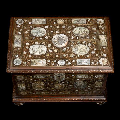 A Walnut Casket C.1670-1680