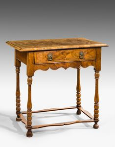 18th century walnut side table