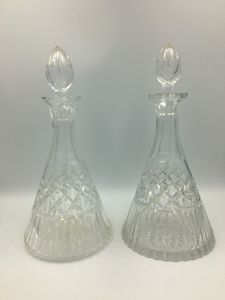 Pair of decanter bottles.