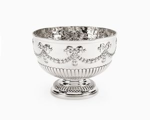Edwardian solid silver rose bowl