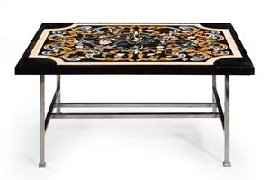 20th century marble top coffee table