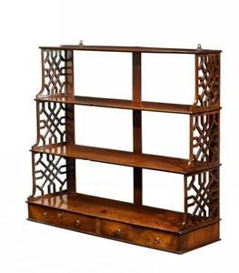 George III Mahogany Hanging Wall Shelves