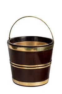 18th Century Dutch Brass Bound Bucket
