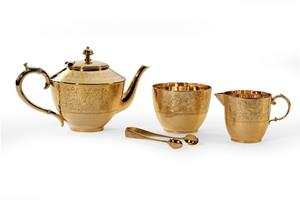 Gilt tea set by Frederick Elkington