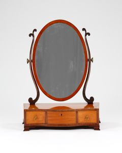 18th Century Satinwood Toilet Mirror
