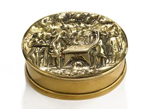 17th century brass cast snuff box