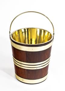 18t Century Brass Bound Bucket