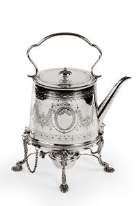 Victorian Silver Tea Kettle