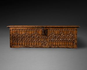 16th century Medieval Walnut Coffer