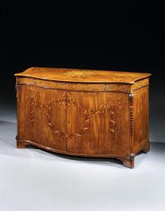 18th century marquetry commode by Ince & Mayhew