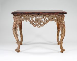 18th century French giltwood console table