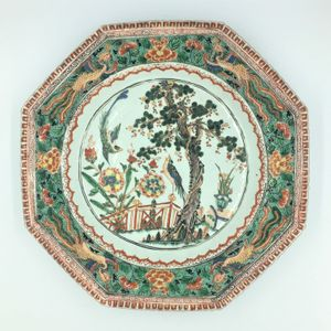 18th Century Chinese Famille Verte Plate