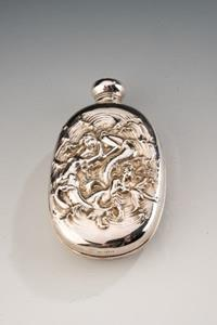 Edwardian Period Silver Hip Flask