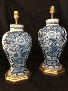 20th century Dutch Delft lamps