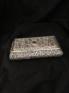 Victorian silver box