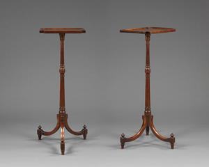 Pair 18th century mahogany torcheres