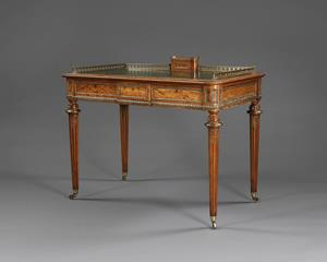 Victorian Writing desk with gilt metal decoration