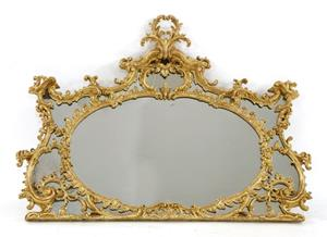 18th century overmantle mirror