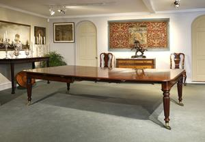 19th century large mahogany dining table
