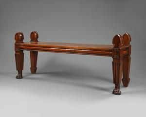 19th Century Mahogany Hall Bench
