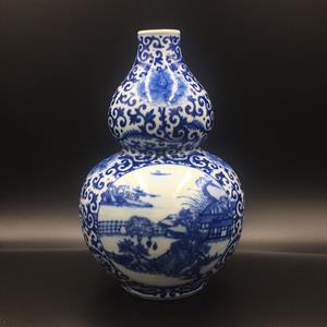 20th century Chinese double gourd vase