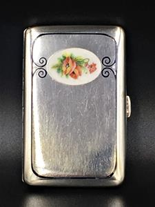 Silver & enamel cigarette case