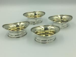Four Georgian Gilt Lined Salt Cellars