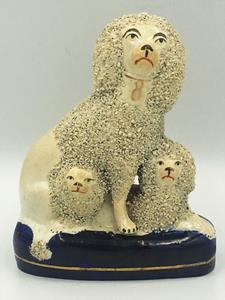 19th Century Staffordshire Poodle group