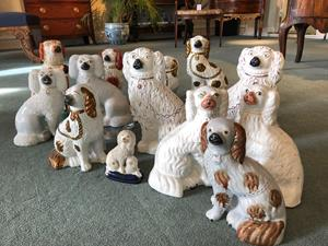 Collection of 19th Century Staffordshire Dogs