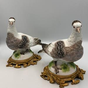 Pair of 19th century Porcelain Birds