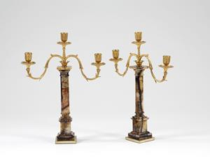 Early 19th Century Blue John and Ormolu Candelabra