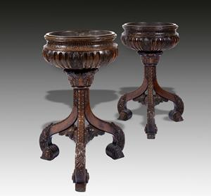 Pair 19th century Anglo Indian Jardinieres