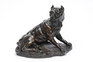 19th Century Bronze Mastiff