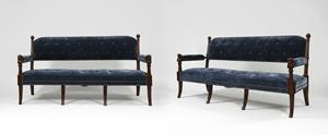 Pair 19th Century Settees