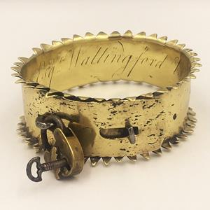 19th Century Brass Dog Collar