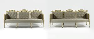 19th Century Pair of Settees