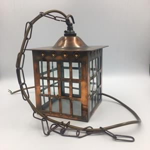 Arts & Crafts Copper Lantern