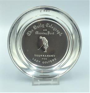 Ladies Silver Golf Trophy Dish