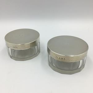 20th Century Cut Glass Trinket Pots