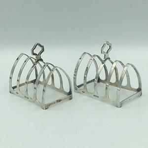 Gothic Design Silver Toast Racks