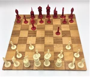 Indian Ivory Chess Set