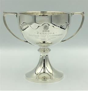 Silver Cut Card Golf Trophy