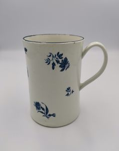 18th century Blue and White Worcester Tankard